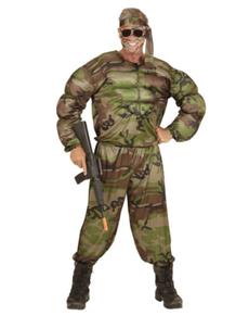 Déguisement soldat musclé homme